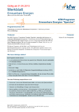 merkblatt zum kfw frderprogramm erneuerbare energien speicher ab 1 mai 2013 - Fachunternehmererklrung Muster